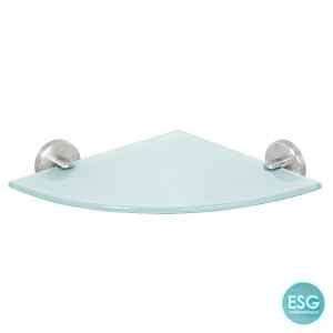 bremermann Bad-Serie PIAZZA - Glas-Eckablage, Edelstahl matt & Glas