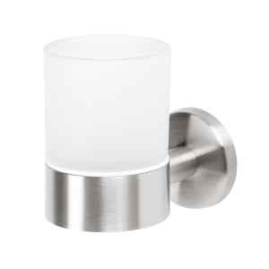 bremermann Bad-Serie PIAZZA - Glasbecherhalter, Edelstahl matt & Glas