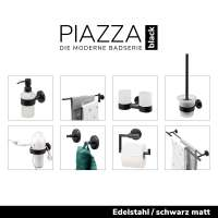 bremermann Bad-Serie PIAZZA BLACK -  Edelstahl Seifenspender, schwarz lackiert 350ml