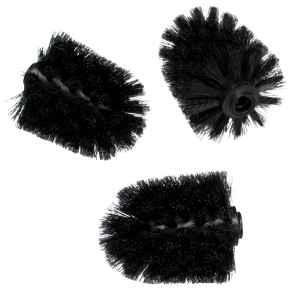 bremermann Ersatzbürsten-Set, schwarz, 3-teilig für WC-Garnitur 3in1 #91125 #91126