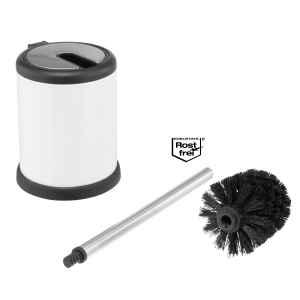 bremermann WC-Garnitur mit Automatik-Deckel, Kunststoff, weiß