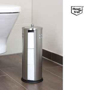 bremermann Badgarnitur 2er Set, WC-Garnitur und Toilettenpapierrollen-Behälter, aus Edelstahl
