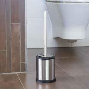 bremermann WC-Garnitur mit Automatik-Deckel, Edelstahl, Anti-Fingerabdruck