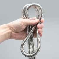 bremermann Edelstahl Brauseschlauch 2 m, für ½ Zoll Anschlüsse, flexibel, hohe Zugfestigkeit,