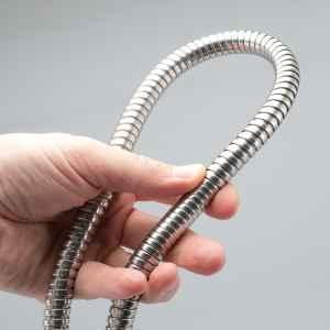 bremermann Edelstahl Brauseschlauch 1,5 m, für ½ Zoll Anschlüsse, flexibel, hohe Zugfestigkeit