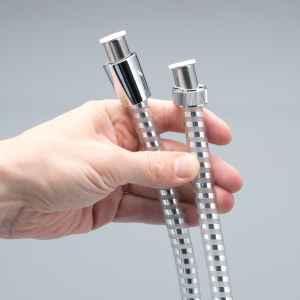 bremermann Brauseschlauch 1,5 m, Kunststoff chrom/transparent, für ½ Zoll Anschlüsse, flexibel