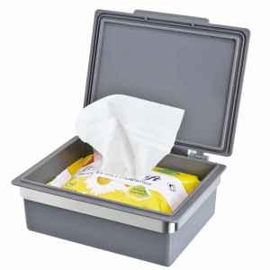 bremermann Bad-Serie PIAZZA Feuchttücherbox grau mit...