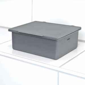 bremermann Bad-Serie PIAZZA Feuchttücherbox grau mit Halterung, Edelstahl matt