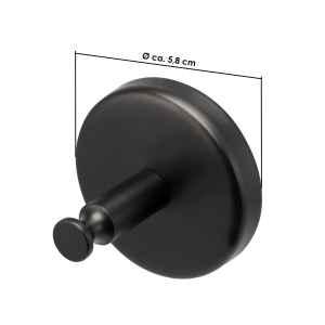 bremermann Bad-Serie PIAZZA BLACK - Handtuchhaken 2er Set, matt schwarz