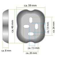 bremermann Bad-Serie PIAZZA - WC-Garnitur mit integrierter Wandbefestigung, Edelstahl matt mit Anti Fingerabdruck Beschichtung