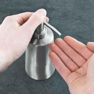 bremermann Bad-Serie PIAZZA - Seifenspender - konisch, Edelstahl matt mit Anti-Fingerabdruck Beschichtung