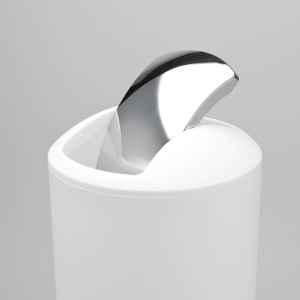 bremermann Kosmetikeimer aus Kunststoff mit Schwingdeckel, Badeimer, 5 L, weiß