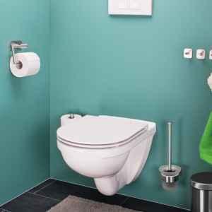 bremermann Bad-Serie PIAZZA TAPE Toilettenpapierhalter selbstklebend Edelstahl, matt kein Bohren 3M Klebebefestigung Papierrollenhalter