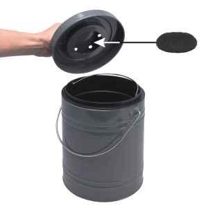 bremermann Aktivkohlefilter für Komposteimer, 4er-Set