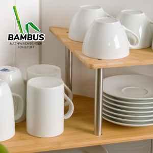 bremermann Küchen-Eckregal, Küchenregal, Gewürzregal, Bambus