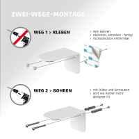 bremermann Magnet-Seifenhalter PUREZZA – frei hängende Seife durch Magnet – Kleben oder Bohren, Signalweiß