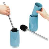 bremermann Bad-Serie SAVONA - WC-Garnitur mit langem Griff, aus Kunststoff, blau