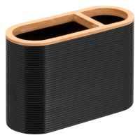 bremermann Zahnbürstenhalter SEGNO aus Bambus und Kunststoff // Utensilienständer, schwarz