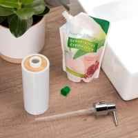 bremermann Seifenspender SEGNO aus Bambus und Kunststoff // Füllmenge ca. 340 ml, weiß
