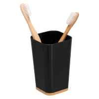 bremermann Zahnputzbecher CALVI aus Bambus und Kunststoff // Utensilienständer // Mundspülbecher, schwarz
