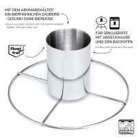 bremermann Geflügelschere und 1x Hähnchengriller // 2tlg.-Set aus Edelstahl //  // Hähnchenbräter, spülmaschinengeeignet