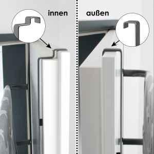 bremermann Tür-Hängeregal, Tür-Handtuchhalter mit 4 praktischen Haken, grau