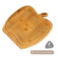 bremermann faltbarer Obstkorb // Apfel-Design // Bambus // ca. 26,7 x 30 x 22,5 cm (B/H/T)