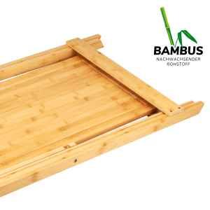 bremermann Grilltisch, klappbar // mit abnehmbarem Schneidebrett // Bambus // ca. 60 x 78,5 x 45 cm (B/H/T) // BBQ-Tisch