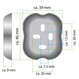 bremermann Bad-Serie LUCENTE - Glashandtuchhalter, für Handtücher und Gästehandtücher aus Edelstahl verchromt hochglänzend
