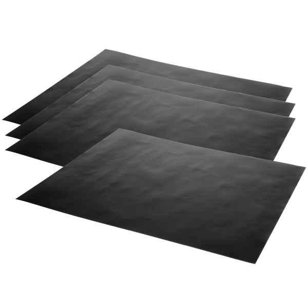 bremermann Grillmatte 4er Set // 50 x 40  cm // wiederverwendbare Grillunterlage auch für Backofen, Grillfolie