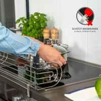 bremermann Herdschutzgitter zum Klemmen // für Herde bis 60 cm Breite // Kochstellenschutz