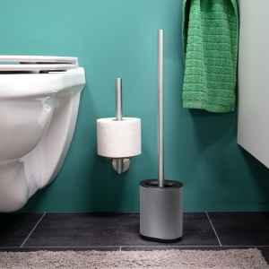 bremermann WC-Garnitur BARBENA, grau, mit flexibler 3in1...