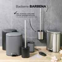 bremermann Treteimer BARBENA - 6 Liter // Edelstahl Anti-Fingerabdruck Softclose // Abfalleimer Kosmetikeimer (Edelstahl)