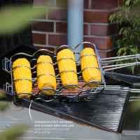 bremermann Maiskolben-Grillhalter für 4 Maiskolben // Edelstahl // 3 Größen einstellbar // ca. 55 x 17,5 cm // Kolbengriller