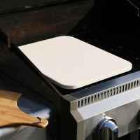 bremermann Pizzastein rechteckig 30 x 38 cm // Cordierit, 1,5 cm dick // Backstein für Ofen und Grill