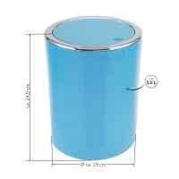 bremermann Bad-Serie SAVONA - Kosmetikeimer mit Schwingdeckel, rund, Badeimer, Kunststoff, 5,5 Liter (blau)