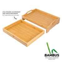 bremermann Serviertablett mit Schublade // Bambus // Frühstückstablett ca 43 x 31 cm