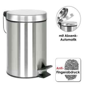 bremermann Treteimer, 3 L, mit Absenk-Automatik,...