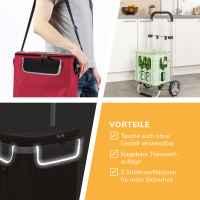 bremermann Einkaufstrolley BRINKUM, Handwagen, Einkaufswagen mit abnehmbarer Tasche, rot