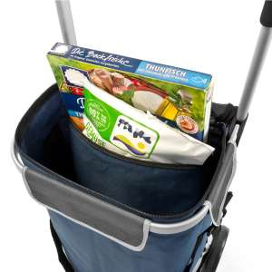 bremermann Einkaufstrolley BRINKUM, Handwagen, Einkaufswagen mit abnehmbarer Tasche, blau