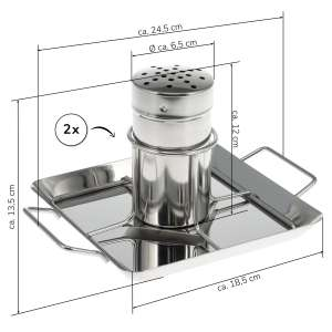 bremermann 3tlg.-Set Geflügelschere mit 2x Hähnchengriller // aus Edelstahl // Hähnchenbräter, spülmaschinengeeignet