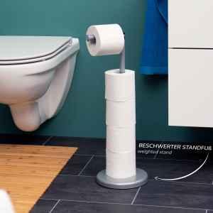 bremermann Stand-WC-Rollenhalter 2in1, Ersatzrollenhalter...