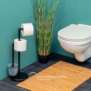 bremermann Stand-WC-Garnitur 3in1, WC-Bürste,...
