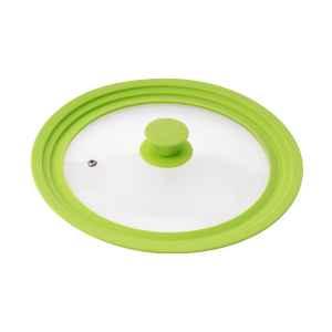 bremermann Universal-Glasdeckel mit Silikonrand, 24/26/28 cm, grün mittel