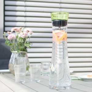 bremermann Glaskaraffe AMISA 1,2 Liter, Funktions-Ausgießer, Wasserkaraffe, grün