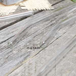 bremermann 6er Glas-Trinkhalme, 25 cm Länge, wiederverwendbar, transparent inklusive 2 Reinigungsbürsten