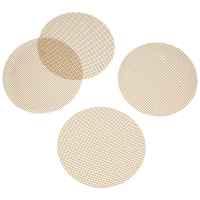 bremermann Grillmatte / Backmatte rund 4er Set  30 cm, Glasfasergewebe antihaft