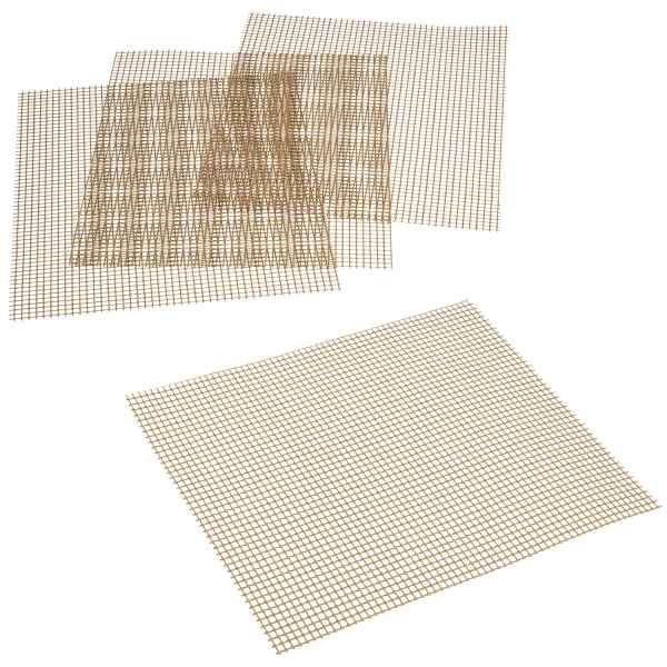 bremermann Grillmatte / Backmatte rechteckig 4er Set, Glasfasergewebe antihaft, ca. 25 x 30 cm (L/B)