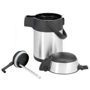 bremermann Pumpkanne Airpot Isolierkanne Thermokanne Getränkespender, Edelstahl (1,9 Liter)