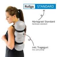 Rollga Faszienrolle, STANDARD, grau 45 cm, patentierte 4-Zonen-Formung